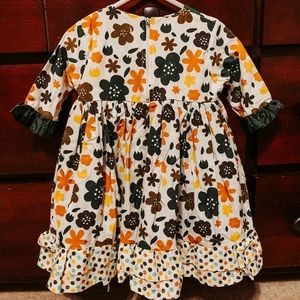 Jelly The Pug Dresses - JELLY THE PUG ~ FALL FLORAL DRESS ~ Size 18 Months